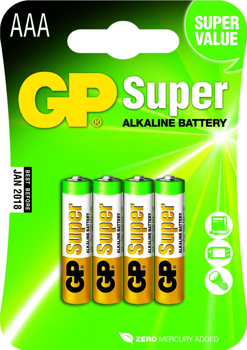 GP Batteries Super AAA (4 pz)