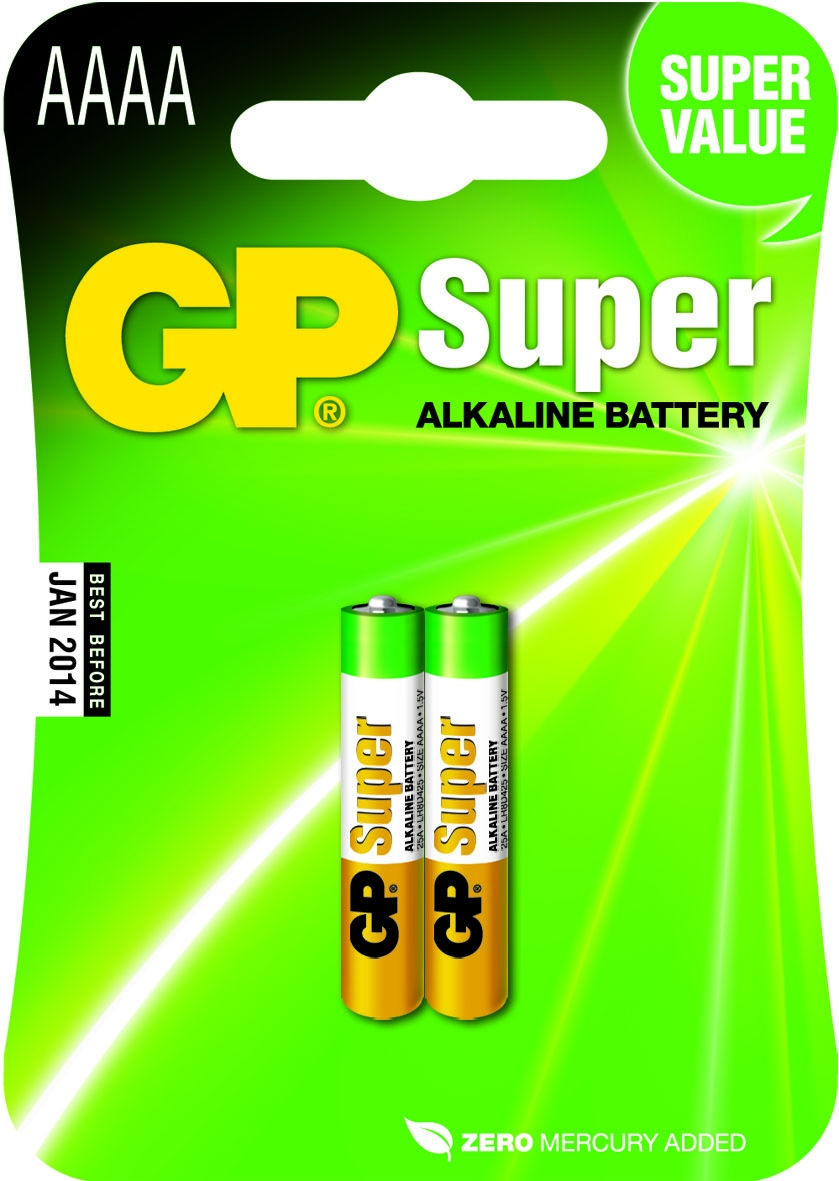 GP Batteries Super AAAA (2 pz)