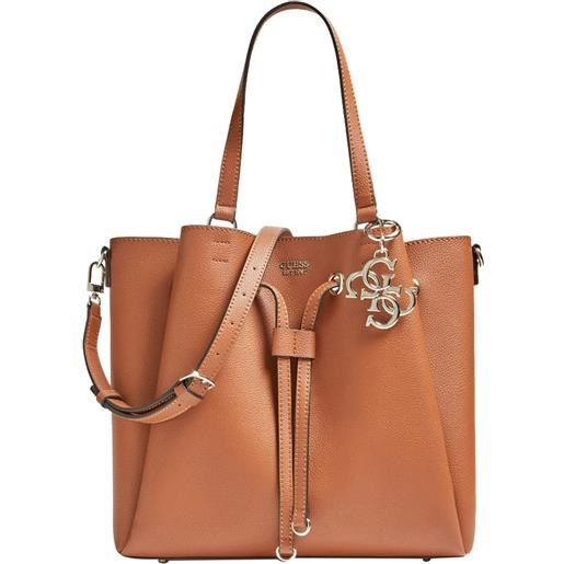 Guess Borsa a Spalla Digital Charm Logo Marrone