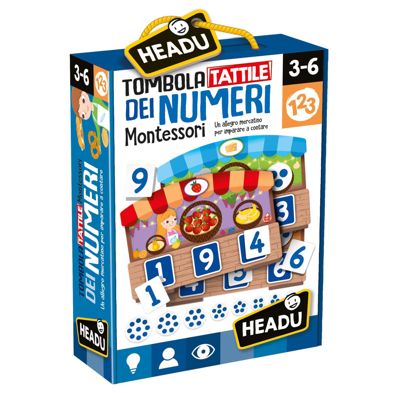 Headu Tombola Tattile dei Numeri Montessori