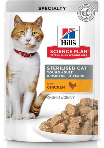 Hill's Science Plan Young Adult Sterilised Cat (Pollo) - umido