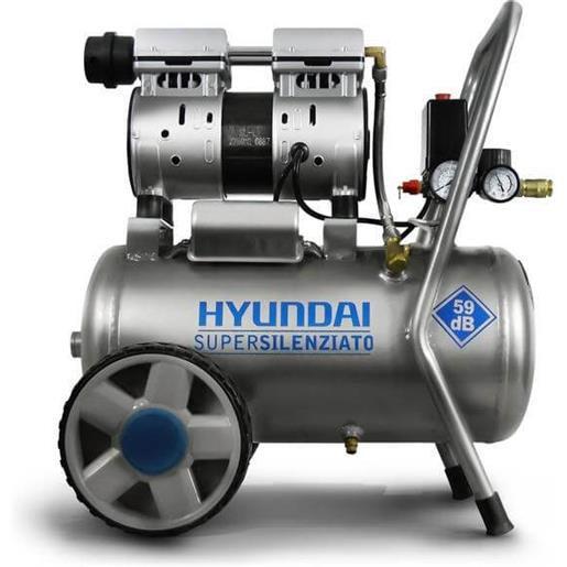 Hyundai Compressore Supersilenziato 59Db - 8 Bar - 50 Litri Hp1 (65701)