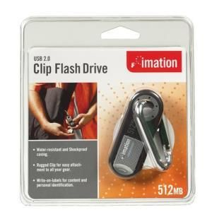 Imation Clip Flash Drive 512 MB