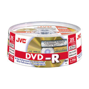JVC DVD+R 4,7 GB 16x (25 pcs cakebox)