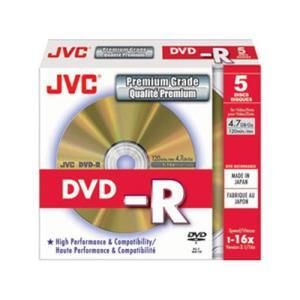 JVC DVD-R 4,7 GB 16x (5 pcs)