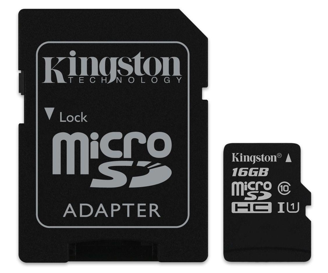 Kingston MicroSDHC 16GB Classe10 UHS-I