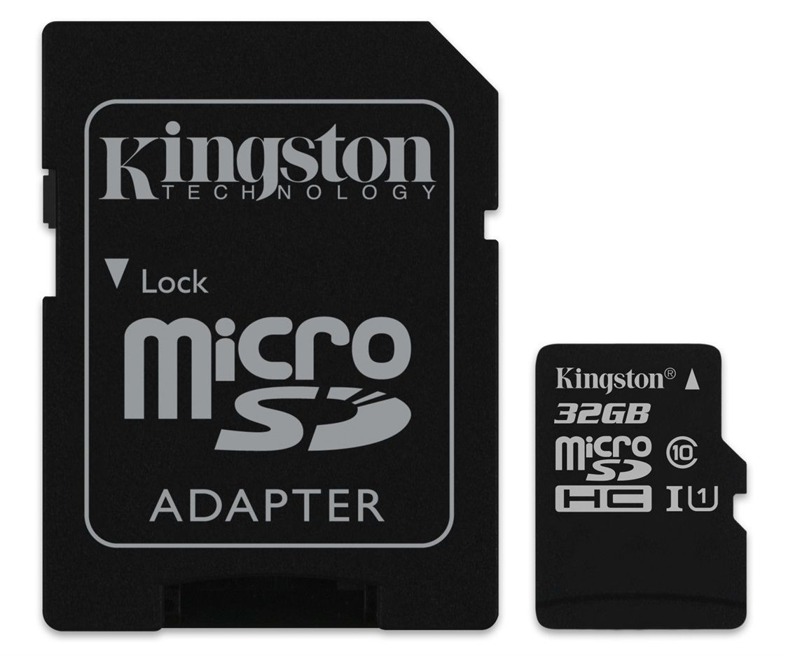 Kingston MicroSDHC 32GB Classe10 UHS-I