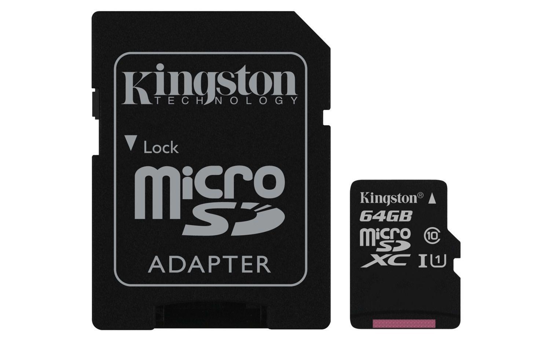 Kingston MicroSDXC 64GB Classe10 UHS-I