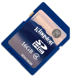 Kingston SDHC 16 GB Class 4