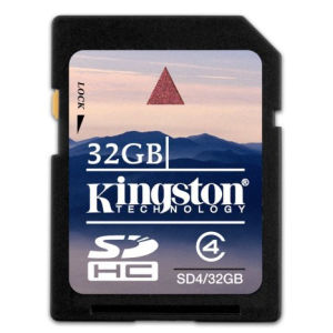 Kingston SDHC 32 GB Class 4