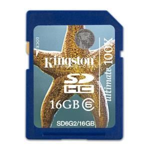 Kingston Ultimate SDHC 16 GB Class 6