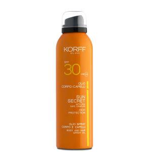 Korff Sun Secret Olio Spray Corpo e Capelli SPF30