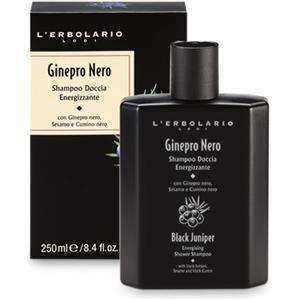 L'Erbolario Ginepro Nero Shampoo Doccia Energizzante 250ml