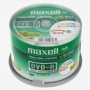 Maxell DVD-R 4.7 GB 16x (50 pcs cakebox) Printable