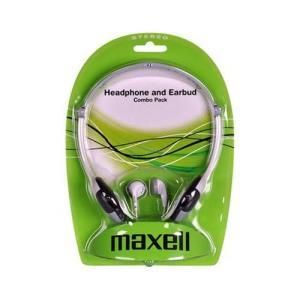 Maxell Headphone and Earbud Combo Pack
