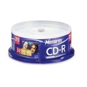 Memorex CD-R 80 Min. 52x (25 pcs cakebox)