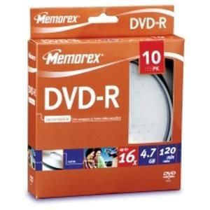 Memorex DVD-R 4.7 GB 16x (10 pcs cakebox)