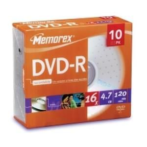 Memorex DVD+R 4,7 GB 16x (10 pcs) Slim