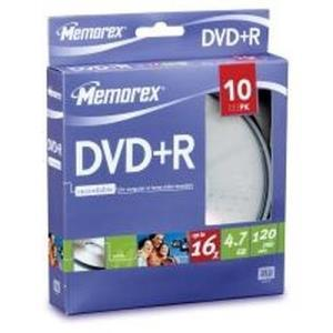 Memorex DVD+R 4.7 GB 16x (10 pcs cakebox)