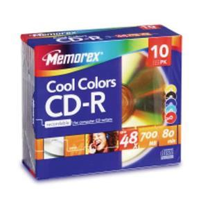 Memorex Premium Colour CD-R 80 Min. 48x (10 pcs) Slim