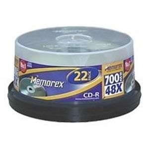 Memorex Professional CD-R 80 Min. 48x (22 pcs cakebox)