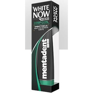 Mentadent Dentifricio White Now Men Deep Cool