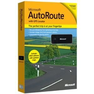 Microsoft AutoRoute 2011 with GPS Locator