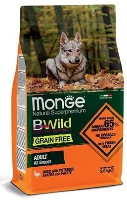 Monge Natural Superpremium Grain Free All Breeds cani (Anatra e Patate) - secco