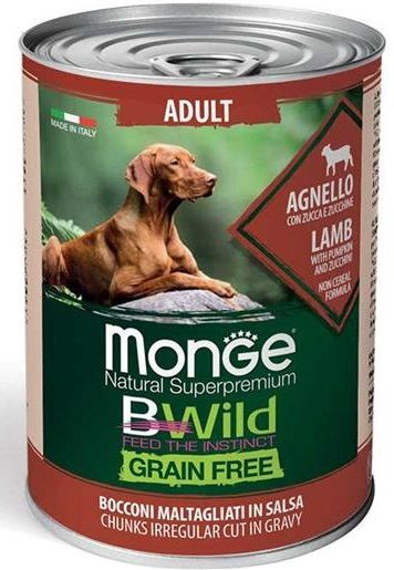Monge BWild Grain Free Adult All Breeds (Agnello e Zucca) - umido 400g