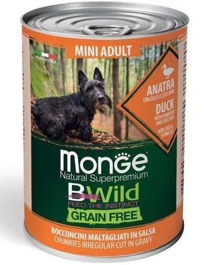 Monge BWild Grain Free Adult Mini (Anatra e Zucca) - umido 400g