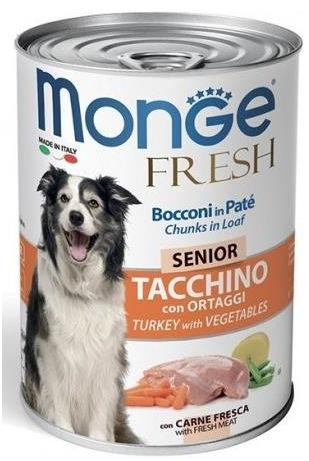 Monge Fresh Senior (Tacchino con Ortaggi) per Cani - umido