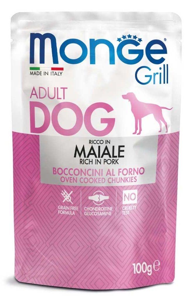 Monge Grill Bocconcini per Cane con Maiale - umido