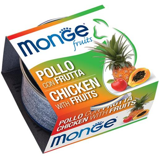 Monge Natural Superpremium Fruits Pollo con Frutta per Gatto 80g - umido