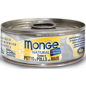 Monge Natural Superpremium Gatto (Tonno Petto di Pollo Mais) 80g - umido