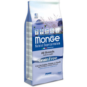 Monge Natural Superpremium Grain Free All Breeds cani (Acciughe Patate Piselli)