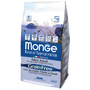 Monge Natural Superpremium Grain Free Mini Adult 2.5 Kg per cani