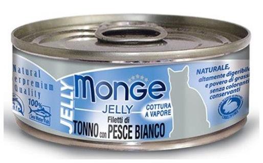 Monge Natural Superpremium Jelly per Gatto Filetti di Tonno con Pesce Bianco - umido