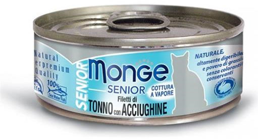 Monge Natural Superpremium Jelly Senior Gatto (Tonno e Acciughine) - umido