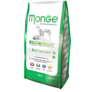 Monge Natural Superpremium MAXI Puppy & Junior 3Kg per cani
