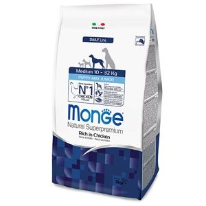 Monge Natural Superpremium Medium Puppy & Junior (Pollo) 12Kg