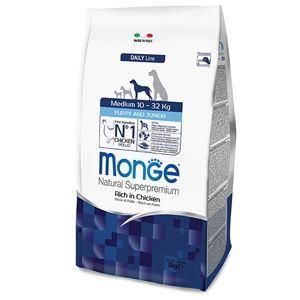 Monge Natural Superpremium Medium Puppy & Junior (Pollo) - secco
