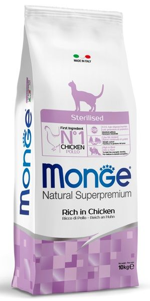 Monge Natural Superpremium Sterilised Gatto (Pollo) 10Kg