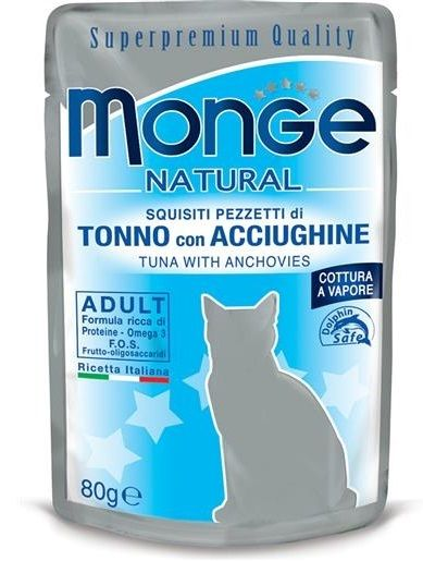 Monge Natural Superpremium Tonno con Acciughine per Gatto - umido 80g
