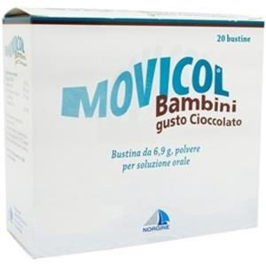 Norgine Movicol bambini 20 bustine 6,9g gusto cioccolato