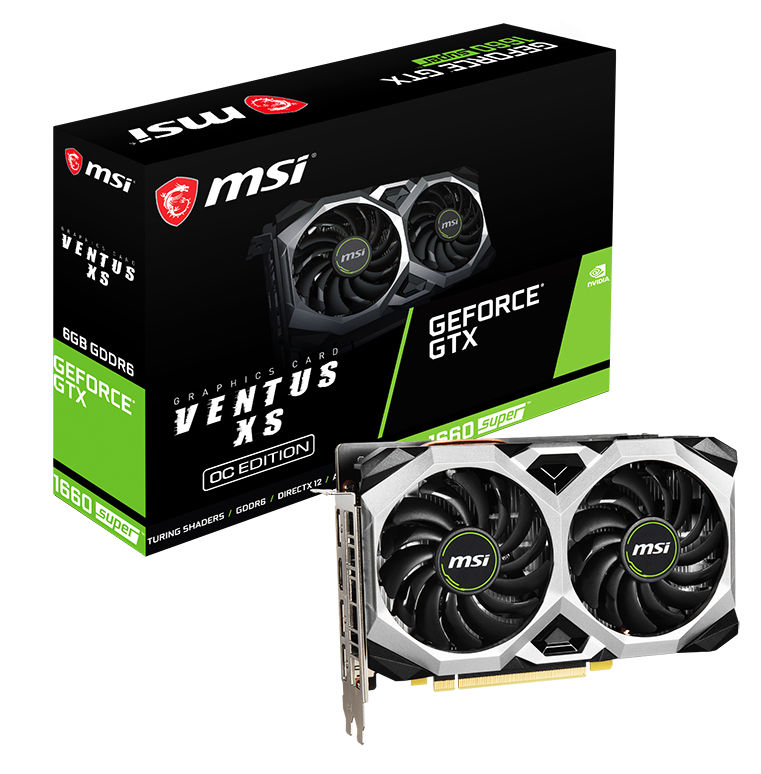 MSI GeForce GTX 1660 SUPER Ventus XS OC 6GB