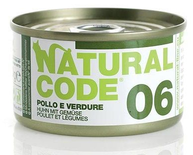 Natural Code 06 Pollo e Verdure per Gatto