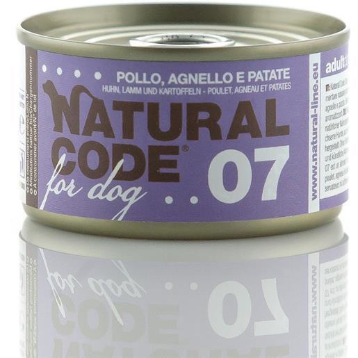 Natural Code 07 Pollo Agnello e Patate per Cane