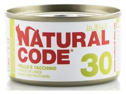 Natural Code 30 Pollo e Tacchino Jelly per Gatto
