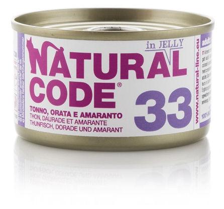 Natural Code 33 Tonno Orata e Amaranto per Gatto