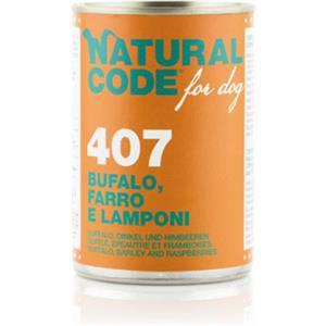 Natural Code 407 Bufalo Farro Lamponi per Cane